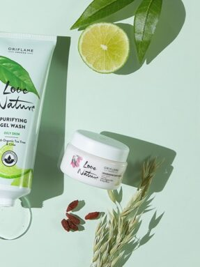 a4 love nature refreshing eye gel 2in1 mask scrub with organic aloe vera coconut water purifying g